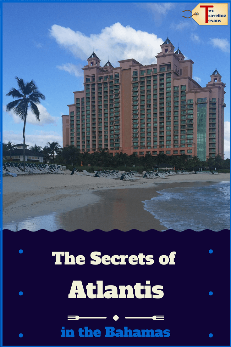 Atlantis hotel and beach with text overlay