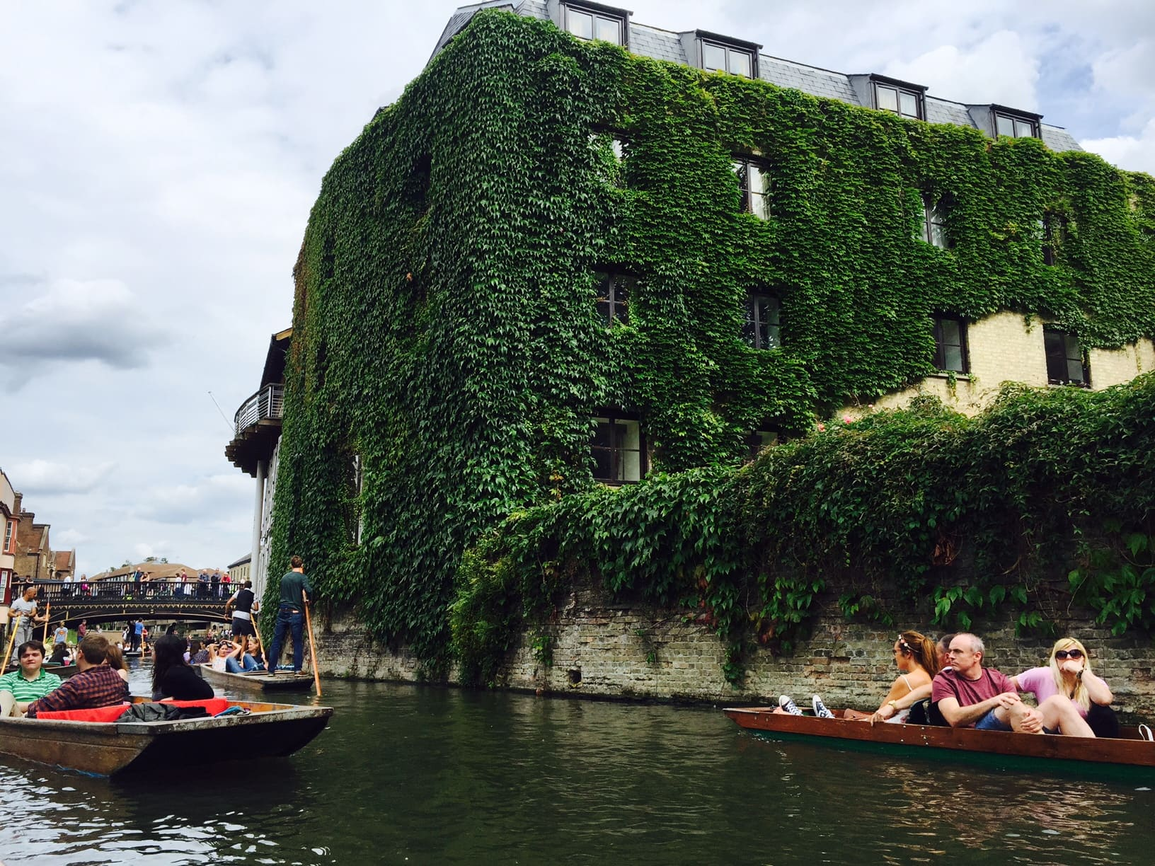 Our First Time Punting in Cambridge, England