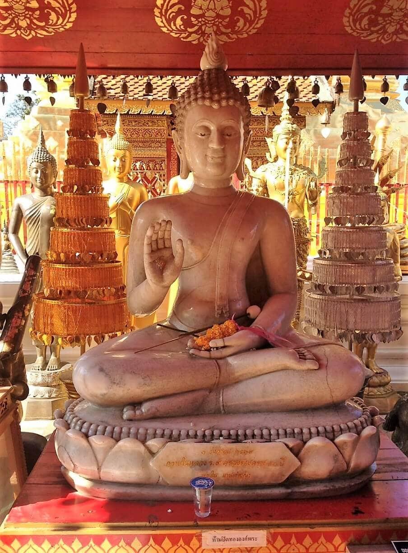 a buddha inside chiang mai temple