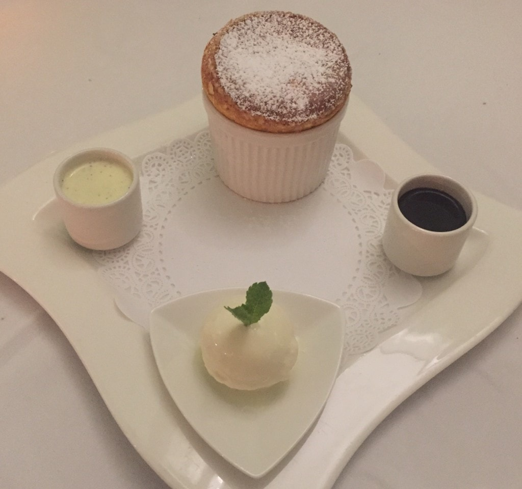 "Souffle for dessert - ""Our Five Favorite Restaurants in St Martin"" - Two Traveling Texans"