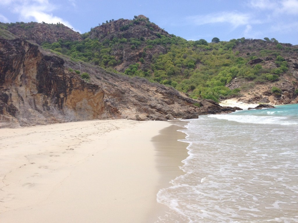 The beautiful and quiet Saline beach