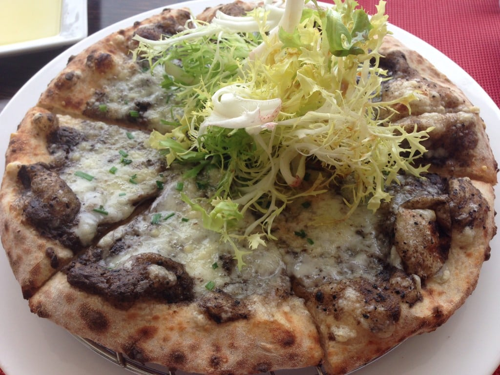 Truffle pizza at the Sand Bar