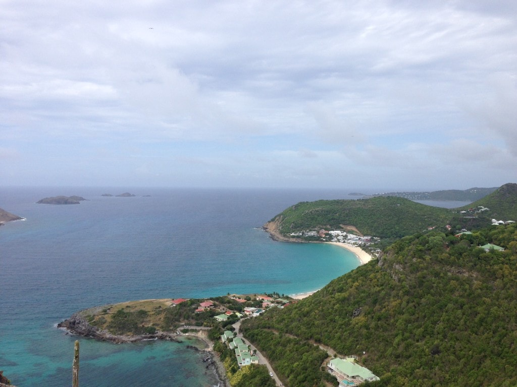 View from our drive on the northwest part of St. Barts