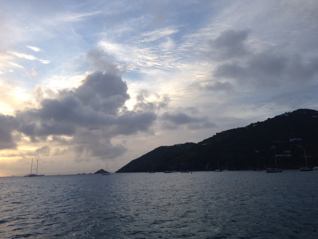Nice view of the sun setting on our ferry back to St. Martin