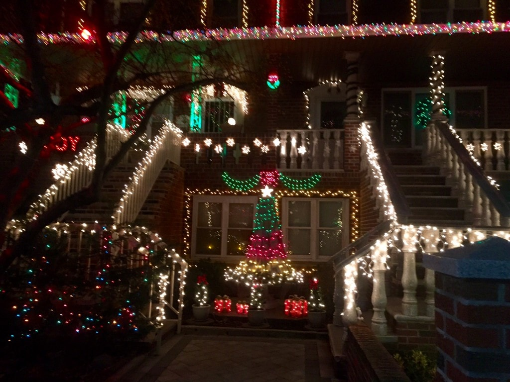 more Christmas decorations in Dyker Heights