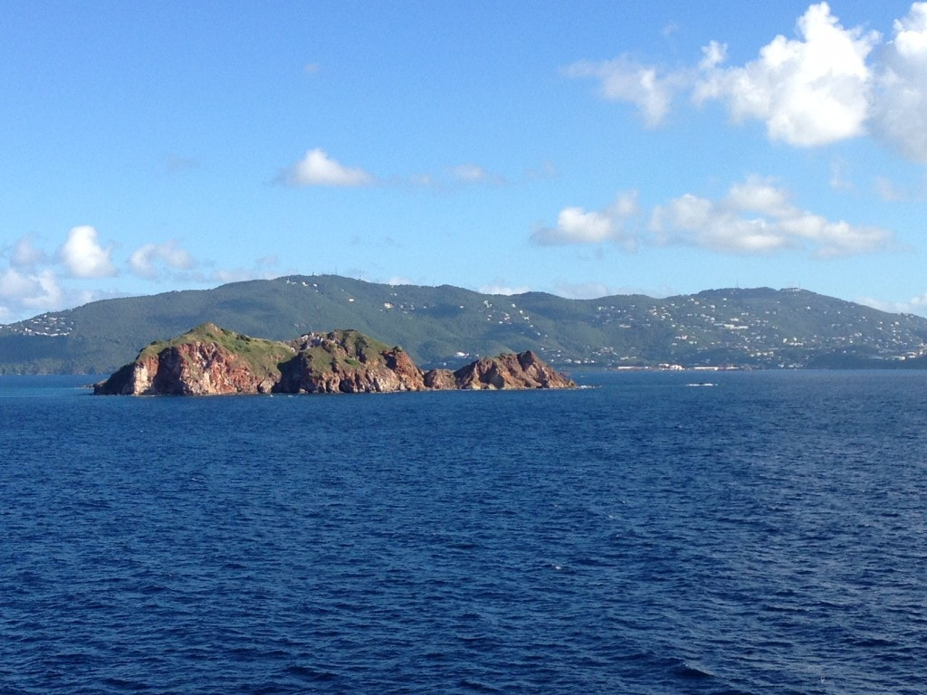 "Cruising off the coast of St. Thomas - ""Our 2016 Travel Wish List"" - Two Traveling Texans"