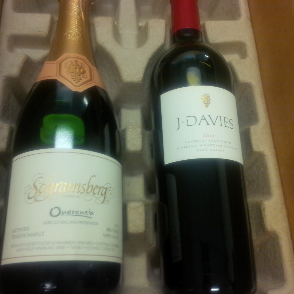 """The wine I received as a member of Schramsberg Winery - - """"10 Wine Tasting Tips and Tricks for Napa Valley"""" - Two Traveling Texans"""