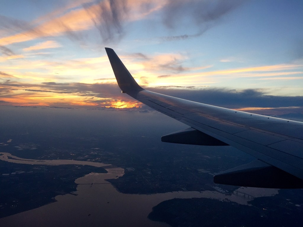 Sunset from the friendly skies