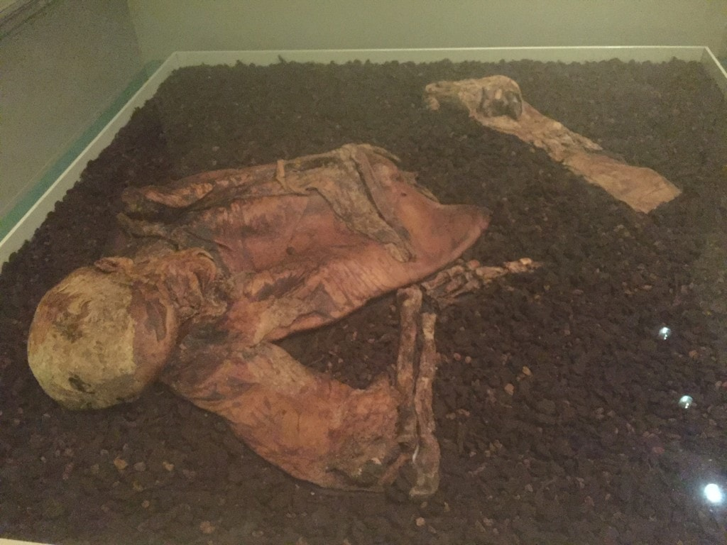 The Lindow Man - hard to believe this is the remains of a man from about 2000 years ago.