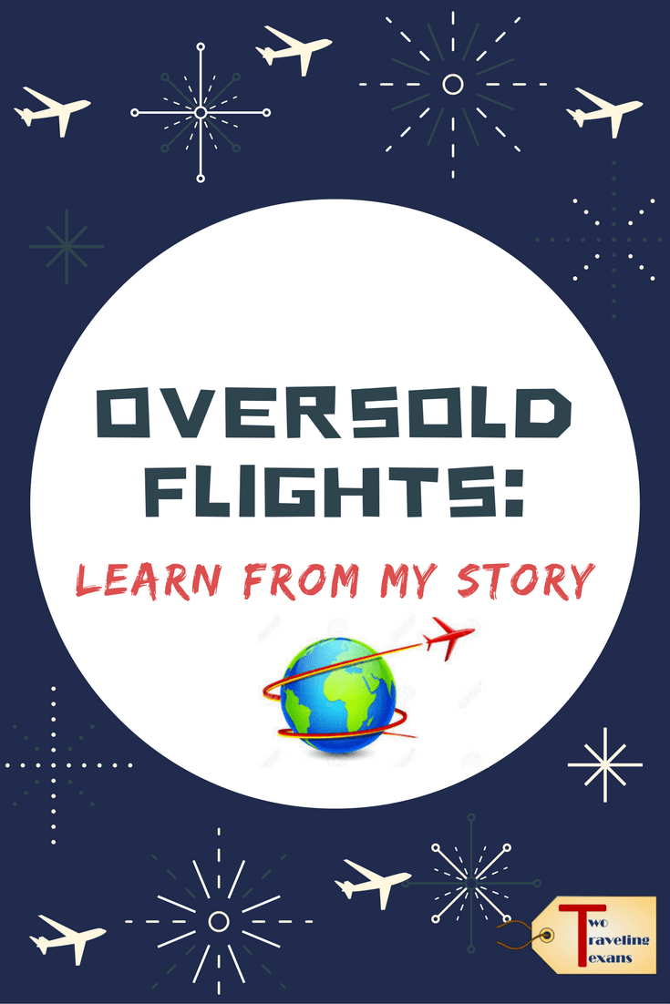 "airplane illustrations with text overlay ""oversold flights: learn from my story"""