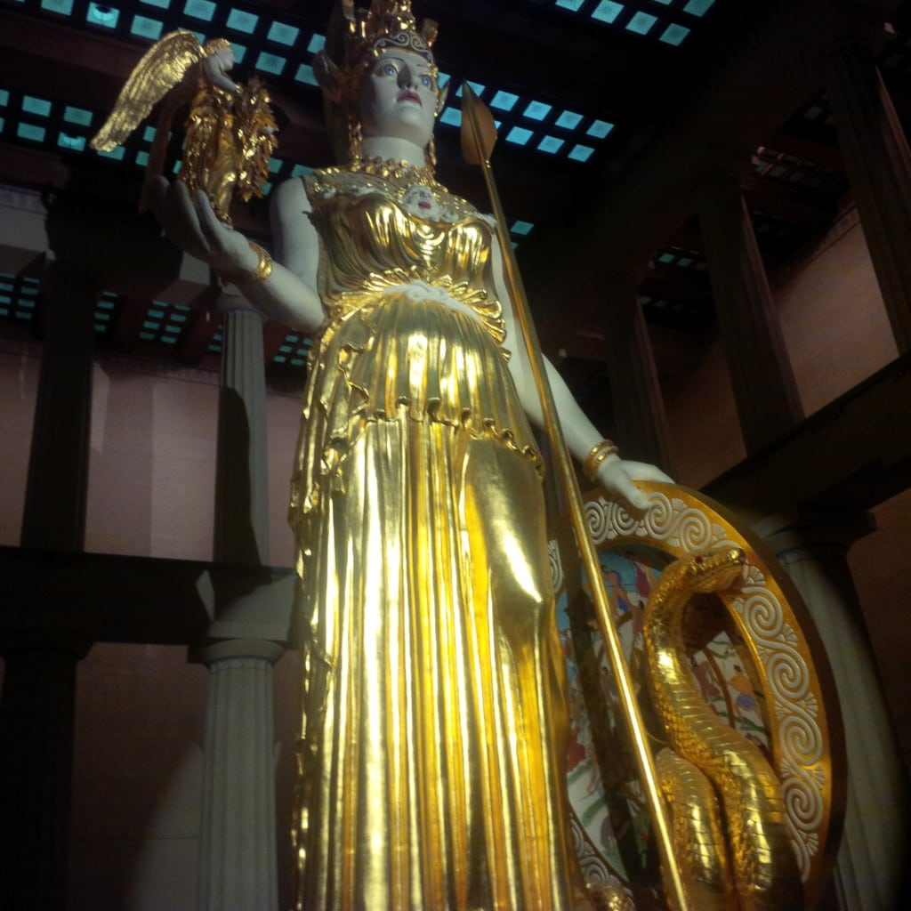 The largest indoor sculpture - Athena.