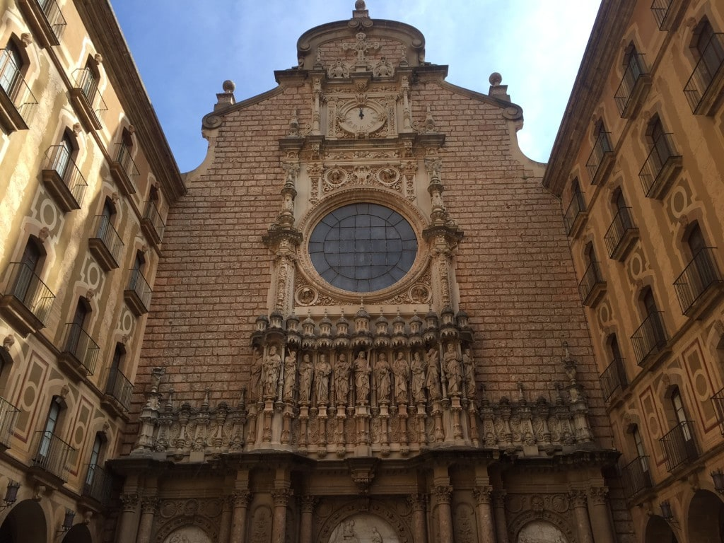 "The outside of the basilica. - ""Montserrat: Mountain, Monastery, and Wine"" - Two Traveling Texans"