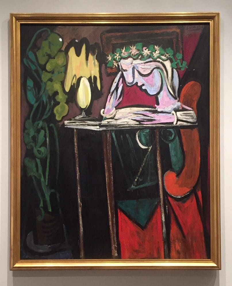"Picasso's ""Reading at a Table,"" 1934 from the Metropolitan Museum of Art"