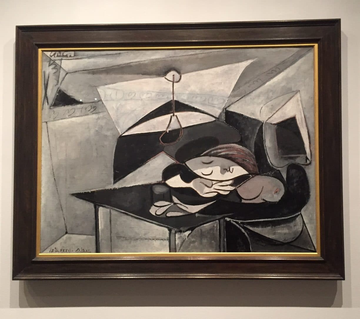 "Picasso's ""Woman Asleep at a Table"", 1936 from the Metropolitan Museum of Art"
