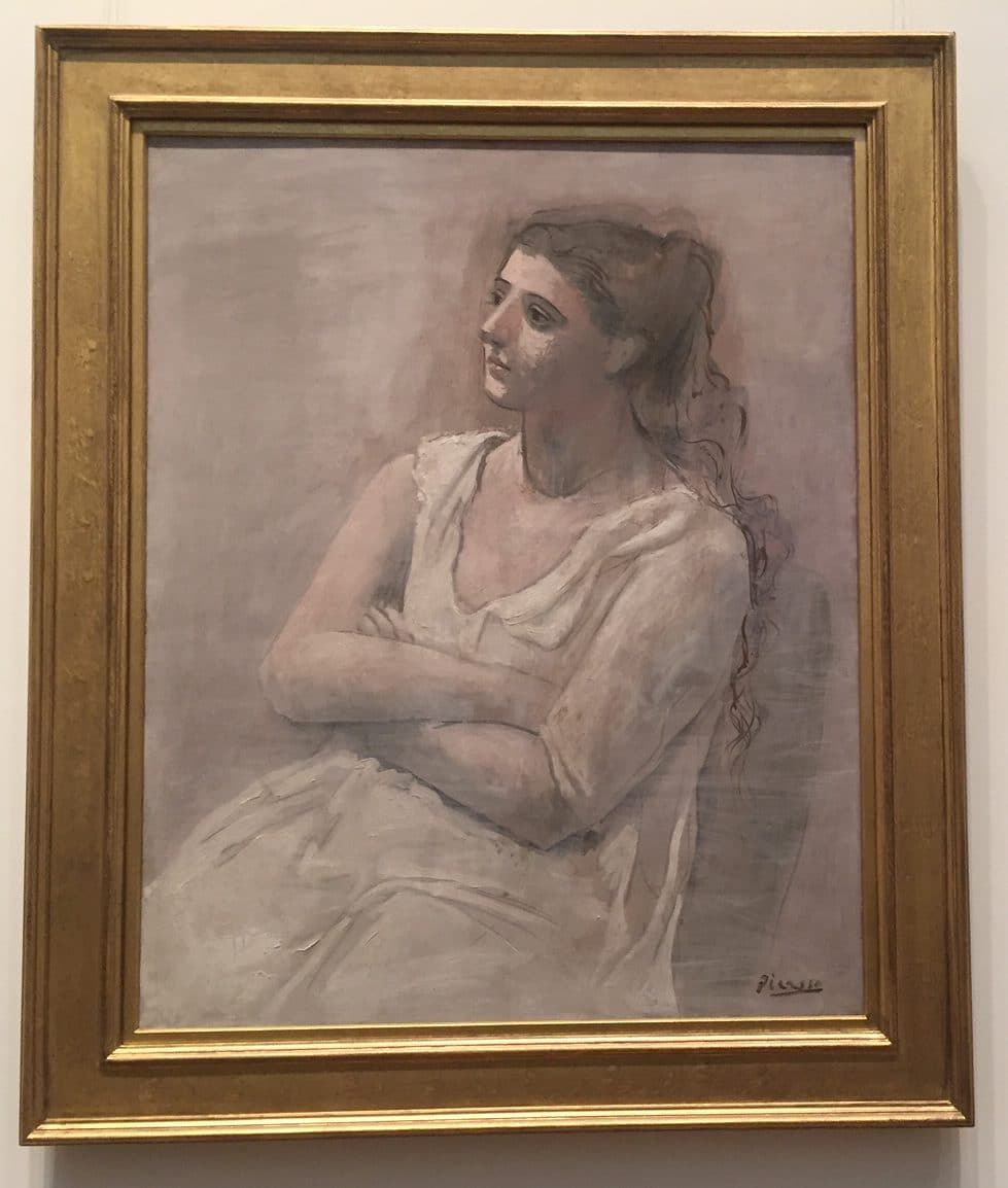 "Picasso's ""Woman in White,"" 1923 Metropolitan Museum of Art"