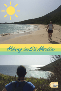Anisa and Katherine hiking in st. martin