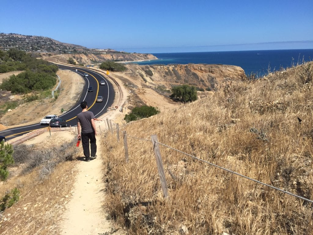 We walked back along the road in Palos Verdes, still very scenic.