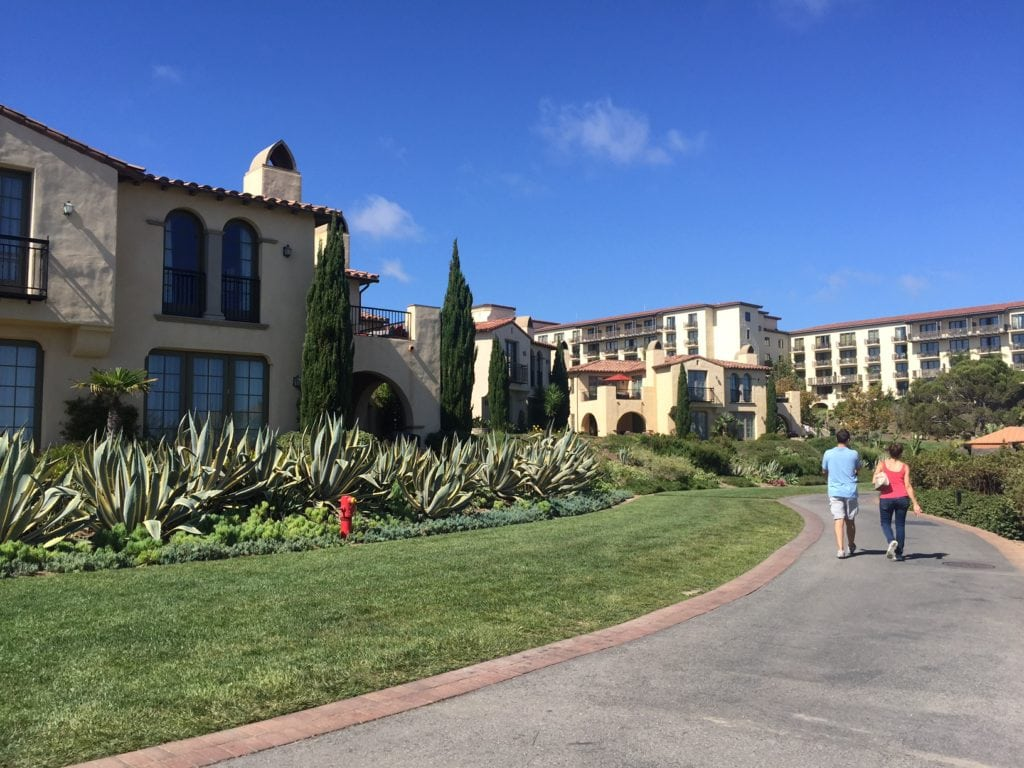 Terranea is a beautiful resort overlooking the ocean.