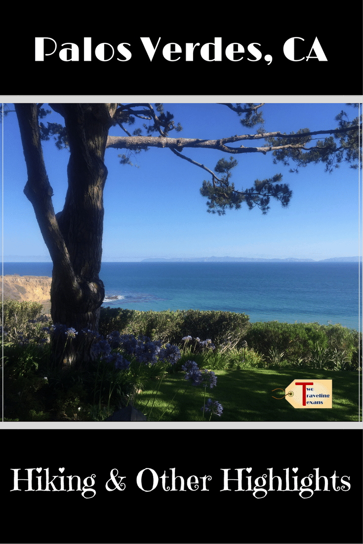 view from wayfarer's church in palos verdes