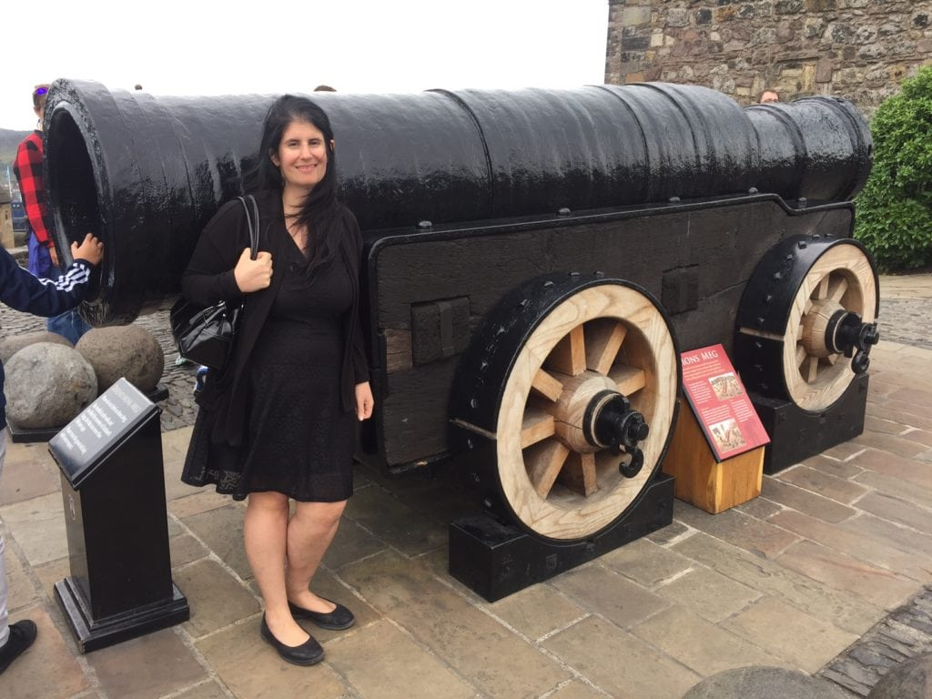 "Anisa with Mons Meg - ""Experiencing History at Edinburgh Castle"" - Two Traveling Texans"