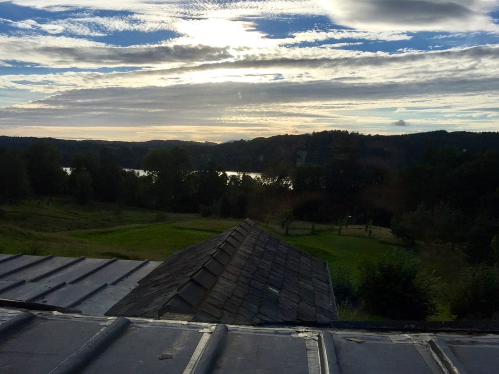 "The view from our room at the Ryebeck just as the sun was starting to set. - ""An Introduction to England's Lake District"" - Two Traveling Texans"