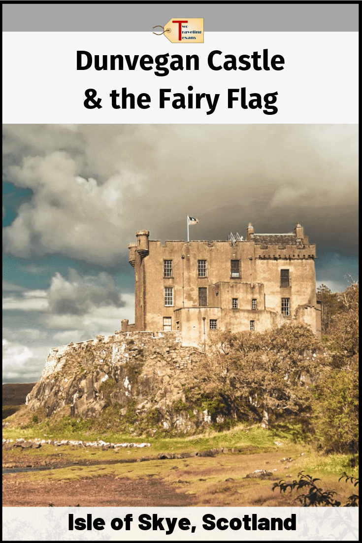 dunvegan castle with text overlay