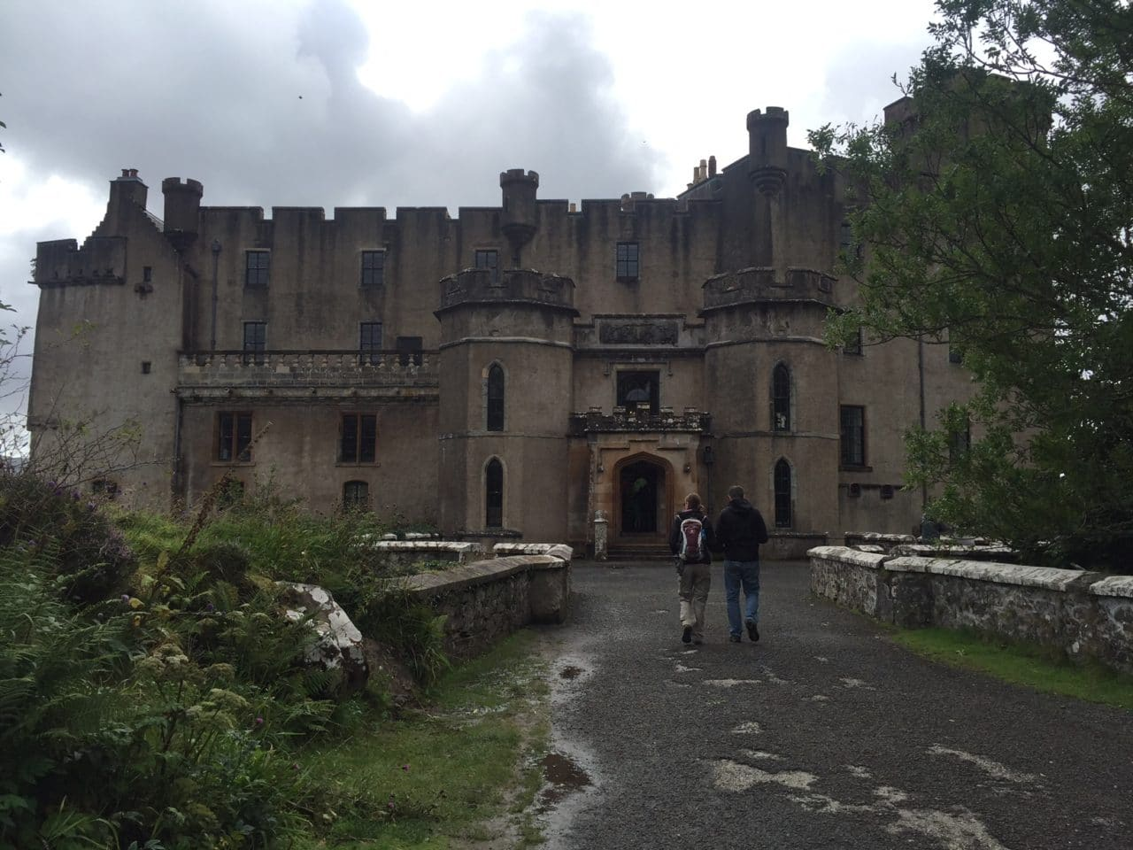 The entrance to Dunvegan Castle.