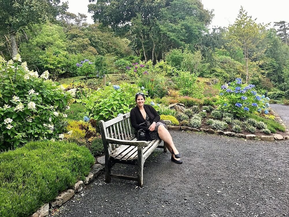 anisa in the gardens at Dunvegan Castle on Isle of Skye