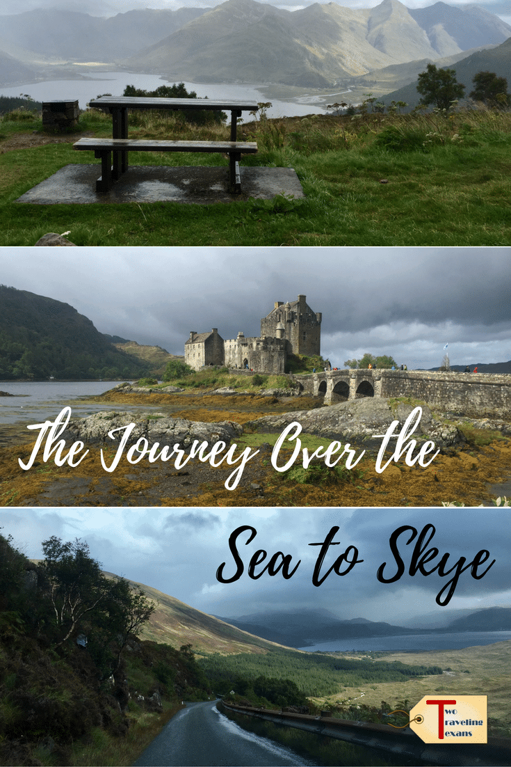 A travel blog about the scenic drive from Loch Ness to Isle of Skye and our stop to visit the beautiful Eilean Donan castle.