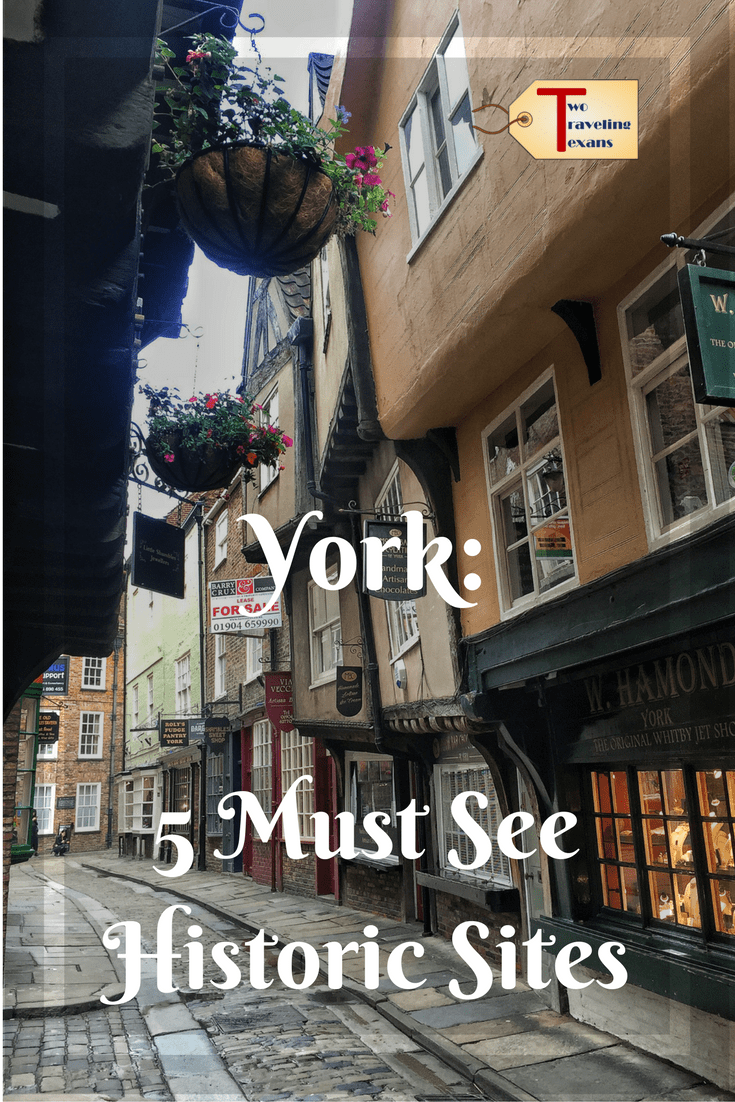 A travel blog about the five must see historic sites we visited in lovely York, England on the last day of our UK road trip.