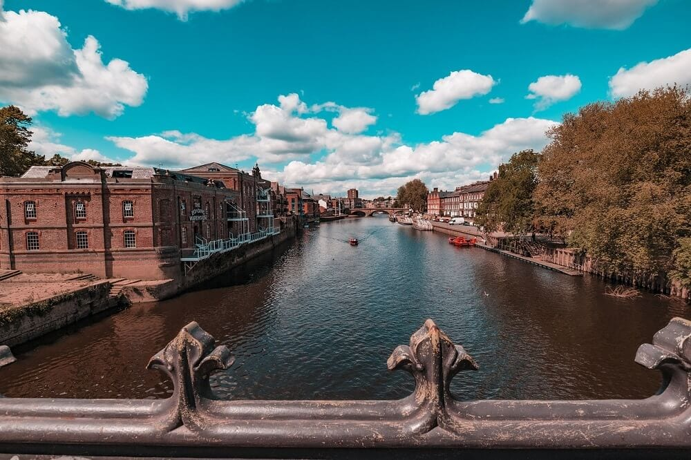 view of River Ouse in York England
