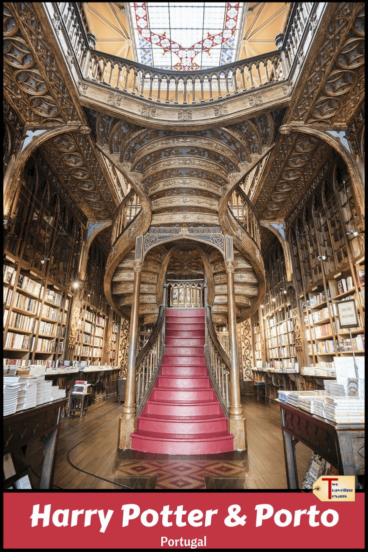 Learn about the connection between Harry Potter and Porto, Portugal by visiting three sites that may have influenced JK Rowling. #harrypotter  #porto #portugal #europe #potterhead | Travel | Porto Harry Potter | Harry Potter Portugal | Lello Bookstore | Lello Library | Harry Potter Porto | Porto Majestic Cafe