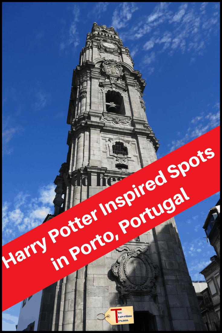 Torre dos Clérigos in Porto with text overlay