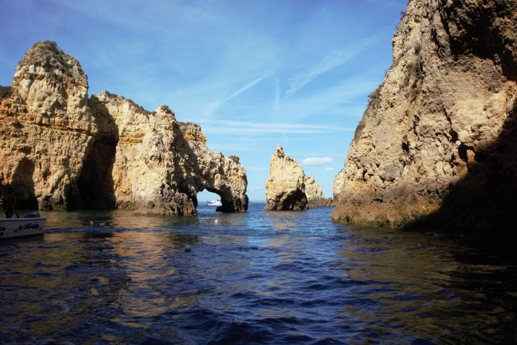 These rock formations reminded me of El Arco in Cabo, Mexico. -