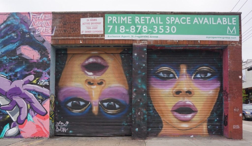 "We saw several murals by Lexi Bella. I love the way she paints eyes. - ""Brooklyn Graffiti and Street Art Tour"" - Two Traveling Texans"