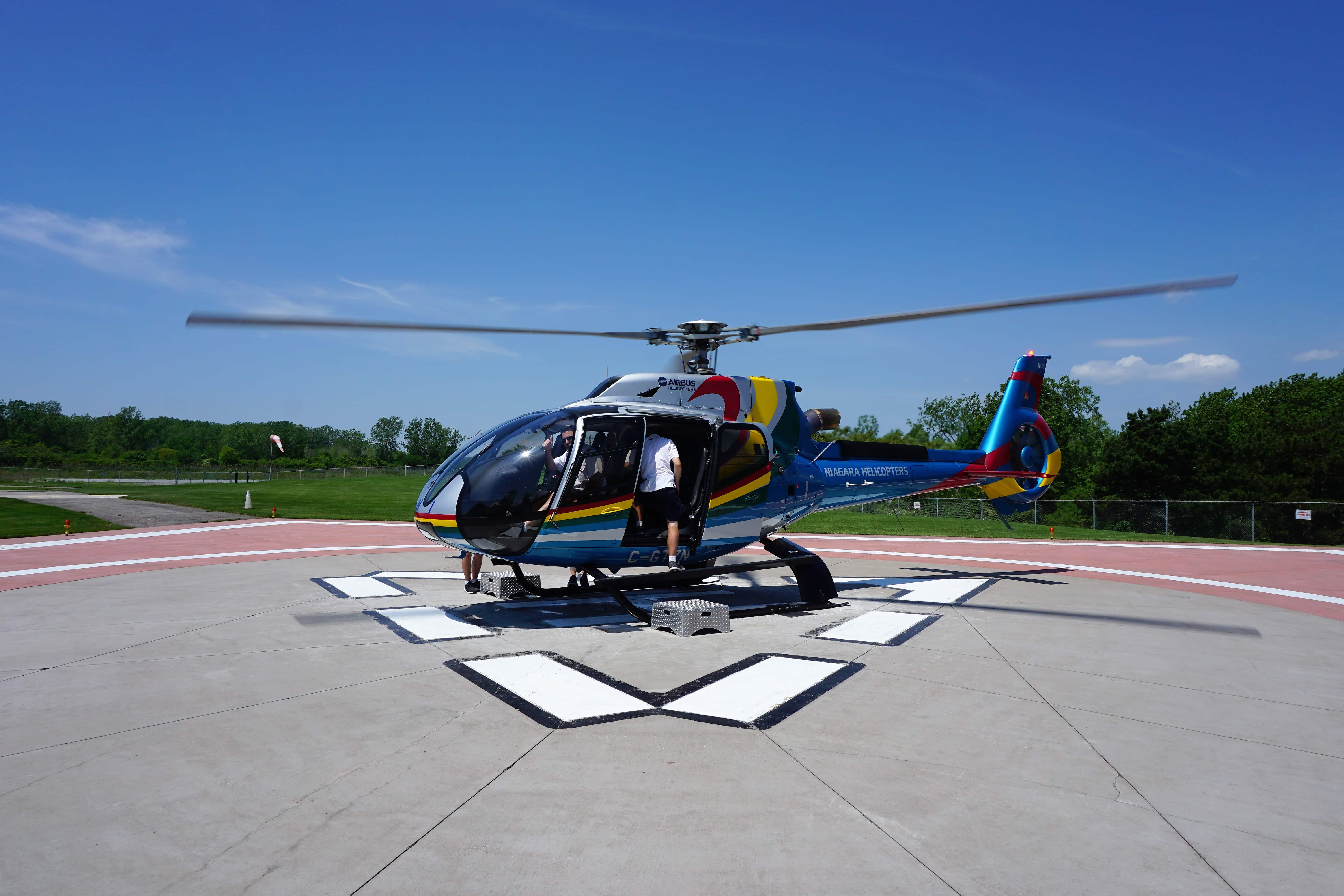 Our helicopter ready get ready for another flight. -