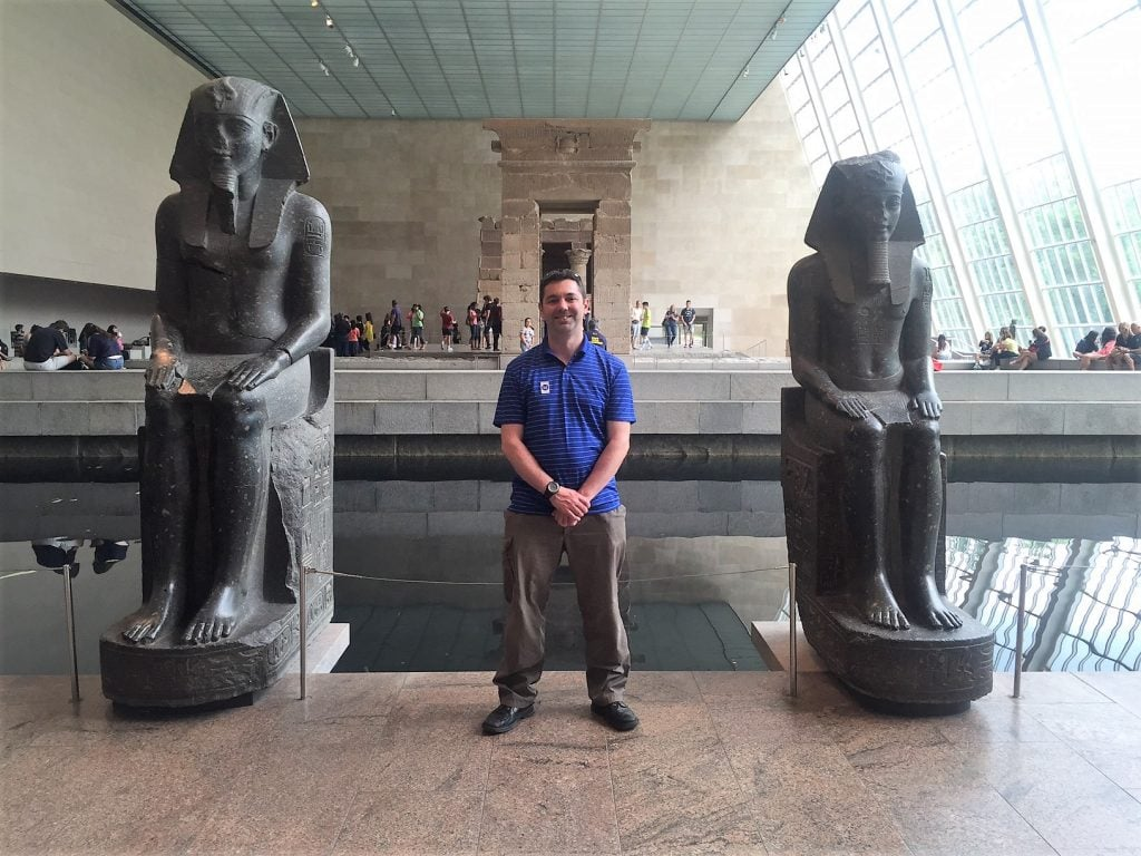 "Russell at the Temple of Dendur in the Met. - ""Met vs MOMA: Which Museum is Best?"" - Two Traveling Texans"