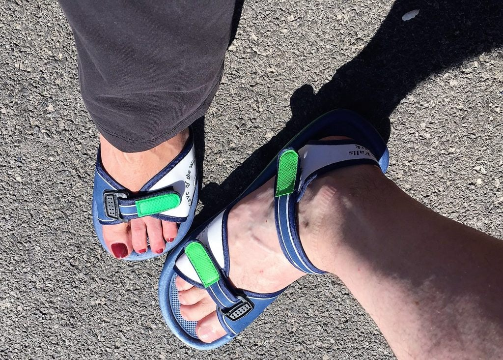 """Our lovely water sandals! - """"Cave of the Winds: Niagara Falls Closeup"""" - Two Traveling Texans"""