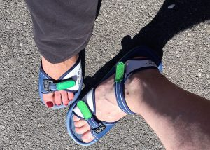 "Our lovely water sandals! - ""Cave of the Winds: Niagara Falls Closeup"" - Two Traveling Texans"
