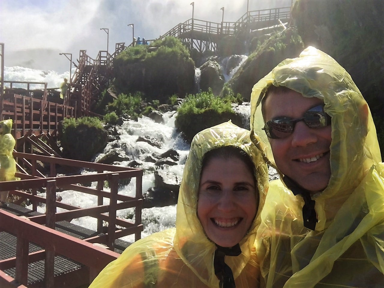 "Obligatory Selfie at the Cave of the Winds. - ""Cave of the Winds: Niagara Falls Closeup"" - Two Traveling Texans"