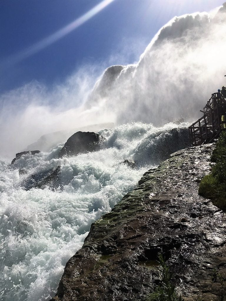 "You get right up by the Falls! - ""Cave of the Winds: Niagara Falls Closeup"" - Two Traveling Texans"