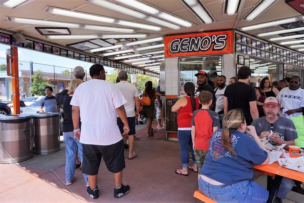 "Geno's Taste Test: Pat's Vs Geno's Cheesesteaks"" - Two Traveling Texans"