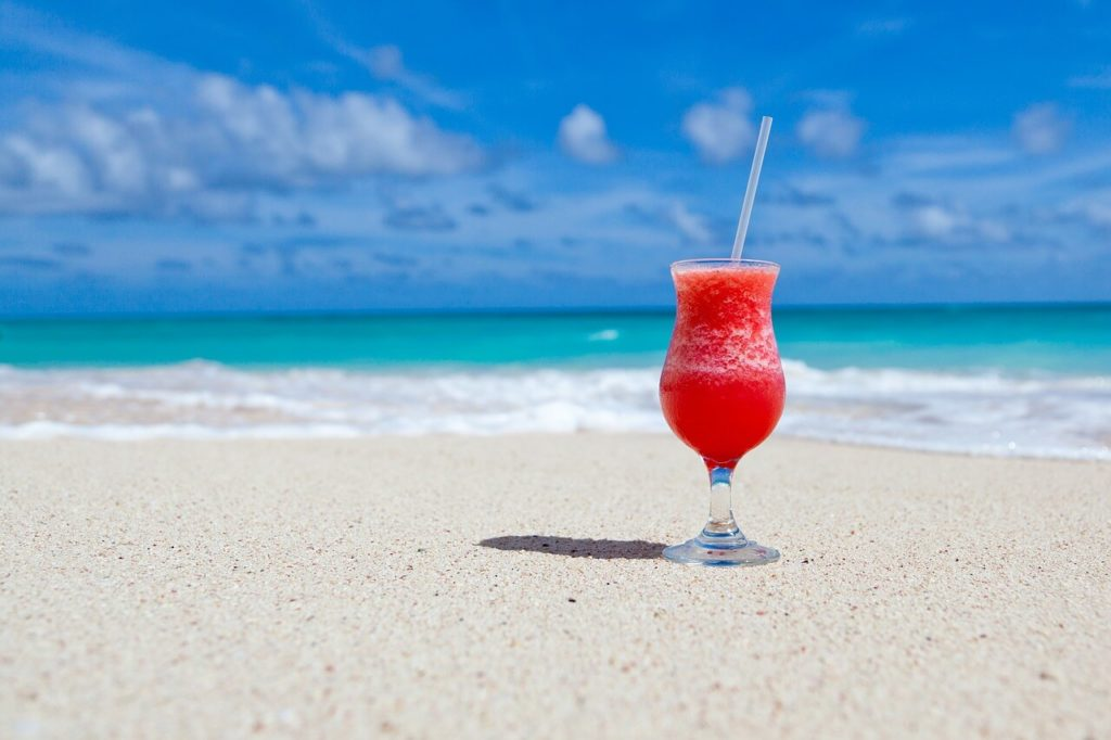 Beach with a Cocktail
