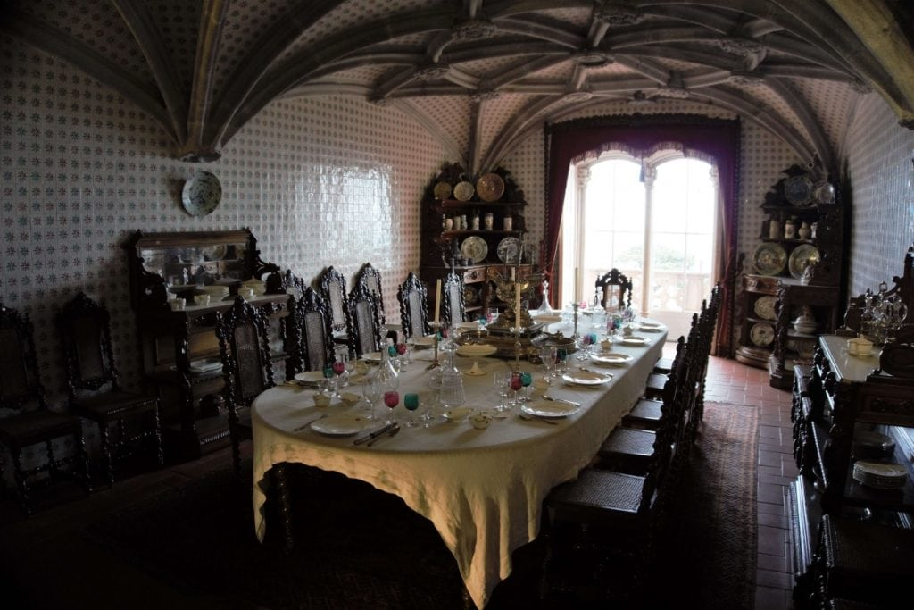 "A glimpse inside one of the rooms of the Pena Palace. - ""Pena Palace: Sintra's Fairytale Castle"" - Two Traveling Texans"