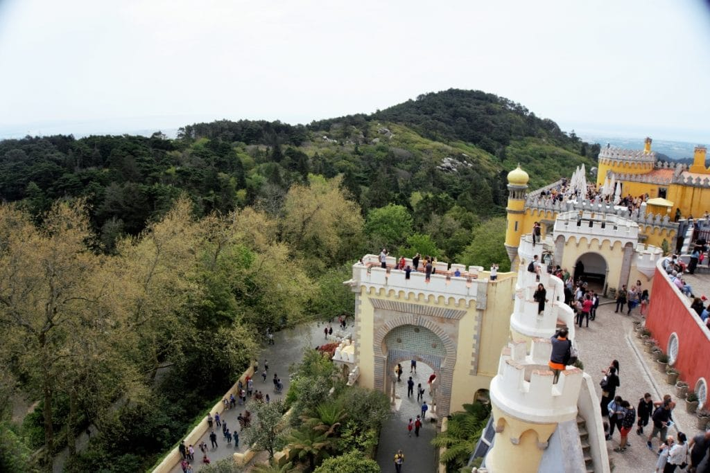 "The view from atop Pena Palace. - ""Pena Palace: Sintra's Fairytale Castle"" - Two Traveling Texans"