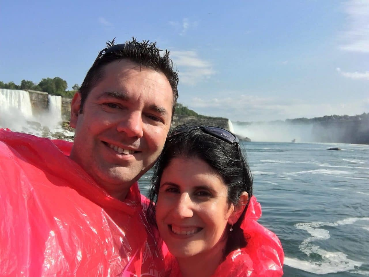 "At the end of our boat ride, we were wet even with the ponchos! - - ""Hornblower Niagara Cruises Vs Maid of the Mist"" - Two Traveling Texans"