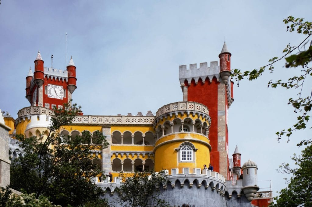 "I just love the colors of Pena Palace. - ""Pena Palace: Sintra's Fairytale Castle"" - Two Traveling Texans"