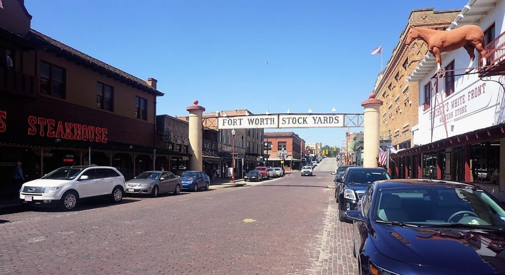 """Lots of restaurants and bars line Exchange Avenue. - """"Fort Worth Stockyards: Learn About the Old West"""" - Two Traveling Texans"""