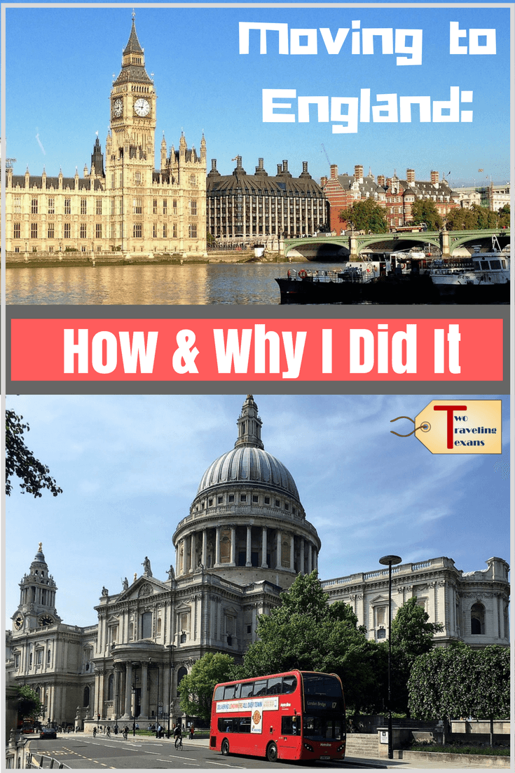 "buildings in England with text overlay ""Moving to England: How & Why I Did it"""