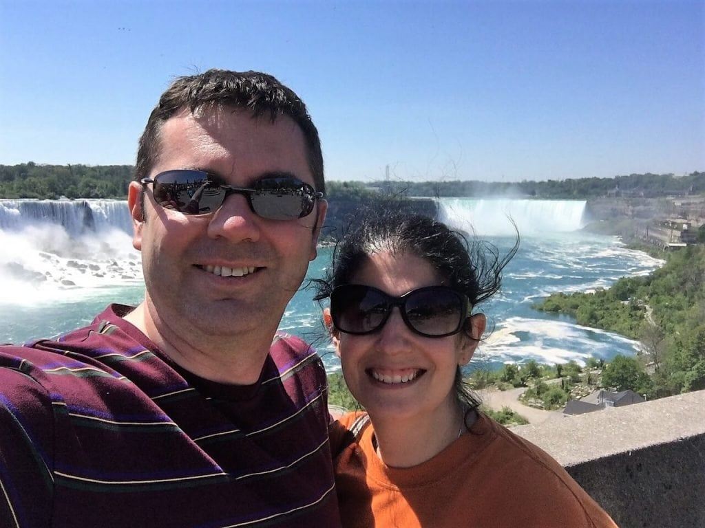 "Russell and Anisa in Niagara Falls for the minimoon. - ""Moving To England: How and Why I Did It!"" - Two Traveling Texans"